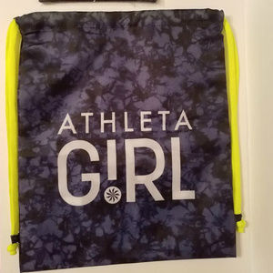 Athleta Girl Purple Bag w/ Stay in the Game Pouch